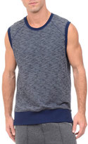 2xist Side-Zip Sleeveless Marled Muscle Sweatshirt