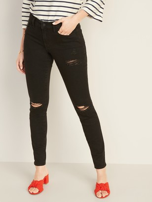Old Navy Mid-Rise Distressed Pop Icon Skinny Jeans for Women