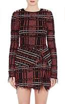 Balmain Women's Fringed Tweed Top
