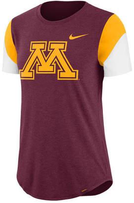 Nike Women Minnesota Golden Gophers Tri-Blend Fan T-Shirt