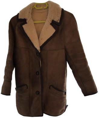 N. Non Signé / Unsigned Non Signe / Unsigned \N Brown Shearling Coats