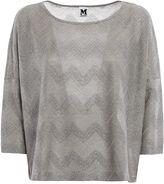 M Missoni Chevron Patterned Jersey T-shirt