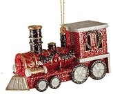 Gerson Holiday Train Red & Black Hanging Christmas Ornament