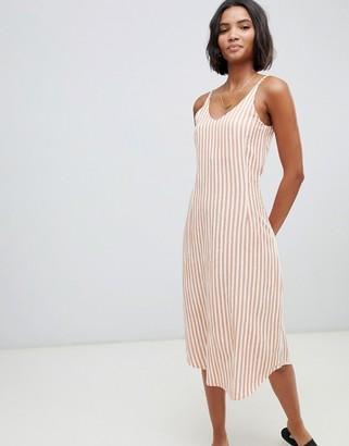 Zulu & Zephyr stripe rush beach dress in multi