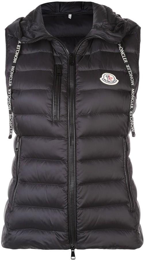 Moncler Padded Hooded Waistcoat