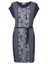 Jeanswest Lydia Jersey Print Dress-Multi Deep Iris-L