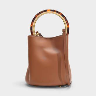 Marni Pannier Bag In Maroon Calfskin