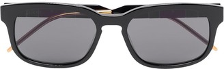 Gucci Web Stripe Square Sunglasses