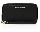 MICHAEL Michael Kors Flat Multi-Function Large Leather Smartphone Wristlet