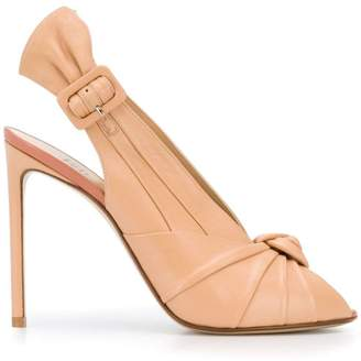 Francesco Russo knot peep-toe pumps