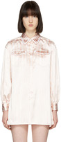 Fendi Pink and White Pyjama Shirt Set