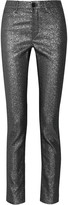 Isabel Marant Leta glittered mid-rise skinny jeans