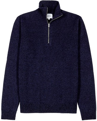 Norse Projects Fjord navy merino wool jumper