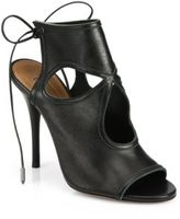 Aquazzura Sexy Thing Cutout Leather Tie-Back Sandals