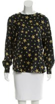 Moschino Star Print Satin Top