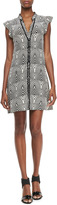 Marc by Marc Jacobs Gamma Printed Button-Front Dress