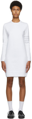 Thom Browne White 4-Bar Sweater Dress