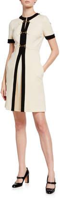 Gucci Compact Jersey Horsebit-Front Dress