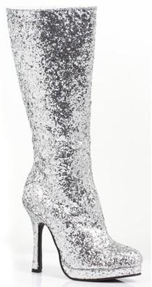 Ellie Shoes Women's Silver Glitter Boots