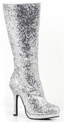 Ellie Shoes Women's Silver Glitter Boots