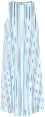 Loro Piana Striped cotton midi dress
