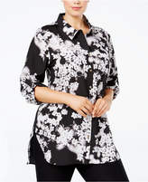 Calvin Klein Plus Size Printed Tunic Shirt
