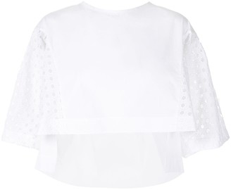 Shanshan Ruan Perforated Sleeve Blouse