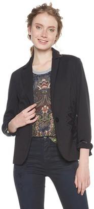 Desigual Women's Ame_columbus Jacket (Negro 2000) 40