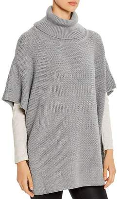 Aqua Textured Turtleneck Poncho - 100% Exclusive
