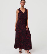 LOFT Tall Scarlet Floral Ruffle Maxi Dress