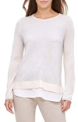 Calvin Klein Layered 2-In-1 Textured Sweater