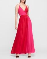 Express Color Block Cut-Out Maxi Dress