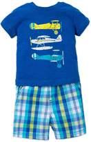 Little Me Little Boys Airplane T-Shirt and Short Set