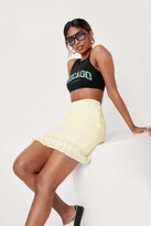 Thumbnail for your product : Nasty Gal Womens Broderie Mini Skirt - Yellow - 6