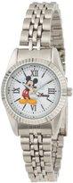 EWatchFactory Disney Women's W000581 Mickey Mouse Silver-Tone Status Watch