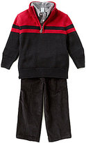 Class Club Little Boys 2T-7 Striped Sweater, Sportshirt, and Corduroy Pants Set