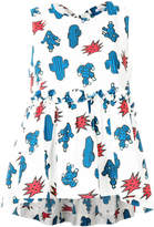 P.A.R.O.S.H. cactus print tiered sleeveless top