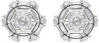 Shop Lc White Gold White Diamond Stud Earrings Ct 1 H Color I3 Clarity