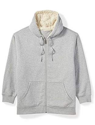 Amazon Essentials Men's Big and Tall Sherpa Lined Full-Zip Hooded Fleece Sweatshirt fit by DXL
