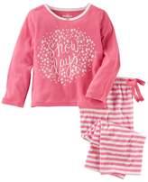 "Osh Kosh Girls 4-14 Snow Days"" Top & Striped Bottoms Pajama Set"