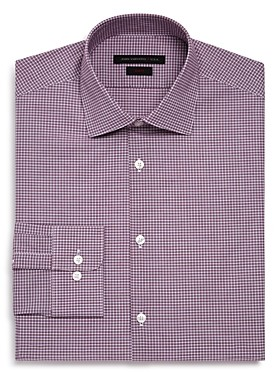 John Varvatos Micro-Check Regular Fit Dress Shirt