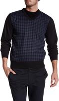 Yoki Houndstooth V-Neck Pullover Sweater