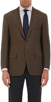 Kiton MEN'S CHECKED TWO-BUTTON SPORTCOAT-BROWN SIZE 44 L