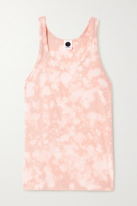 Bassike Motley Tie-dyed Organic Cotton-jersey Tank - Pink