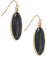INC International Concepts Gold-Tone Black Oval Drop Earrings, Only at Macy's