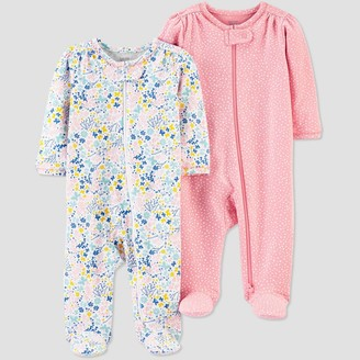 Carter's Baby Girls' 2pk Floral Sleep N' Play - Just One You® made