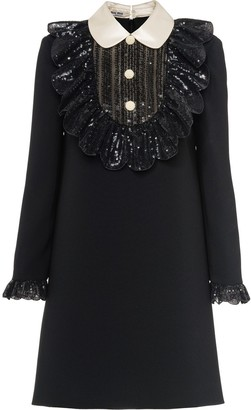 Miu Miu Embellished Faille Cady Dress