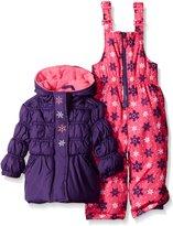 Pink Platinum Baby Girls' Snowflake Printed Snowsuit