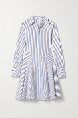 Jason Wu Paneled Striped Cotton-poplin Dress - White