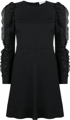 RED Valentino Ruffle-Embellished Dress